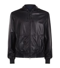 Ralph Lauren Anton Leather Bomber Jacket Male Navy