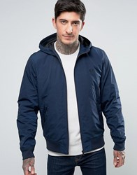 Fred Perry Brentham Mesh Lined Jacket In Navy Midnight