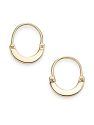 A.L.C. Handcuff Huggie Earrings Gold