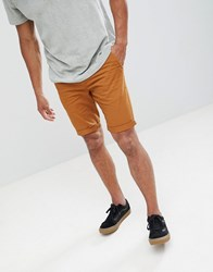 New Look Chino Shorts In Tan Mid Brown