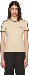 Yeezy Beige And Green Logo Baby T Shirt