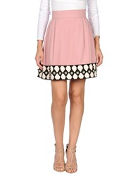 Olympia Le Tan Knee Length Skirts Pink