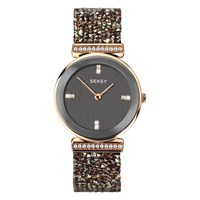 Sekonda 'S Seksy Swarovski And Rock Crystal Round Bracelet Strap Watch Grey 2656.37