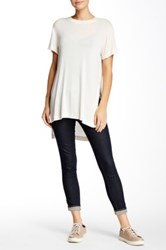 Bcbgeneration Hi Lo Knit Tee White