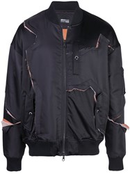 Mostly Heard Rarely Seen Fray With Me Bomber Jacket Black