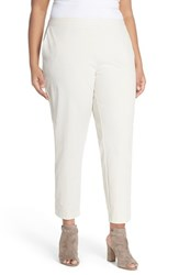 Plus Size Women's Eileen Fisher Stretch Twill Skinny Pants Bone