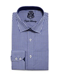 English Laundry Mini Gingham Check Dress Shirt Blue