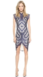Lover Venus Fitted Dress Navy