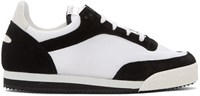 Comme Des Garcons Shirt Black And White Pitch Low Sneakers