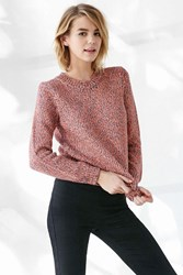 Cooperative Over The Moon Pullover Sweater Orange
