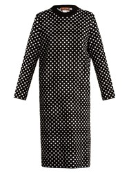 Duro Olowu Polka Dot Jacquard Wool Sweater Dress Black White