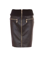Relish Tube Skirt With Zipped Front Black