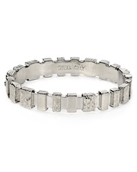 Dylan Gray Wood Textured Bar Bangle Bloomingdale's Exclusive Silver