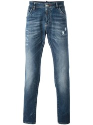 Philipp Plein 'Crocodile' Jeans Blue