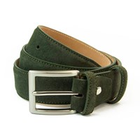 40 Colori Olive Green Trento Leather Belt