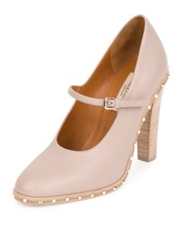 Red Valentino Soul Stud Rockstud Leather Mary Jane Pump Poudre Women's Poudre A.C.