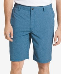 G.H. Bass And Co. Men's Performance Heathered Cotton Shorts Moroccan Blue