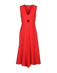 Space Style Concept Knee Length Dresses Red
