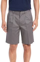 Nordstrom Big And Tall Shop Smartcare Tm Pleated Shorts Grey Tornado