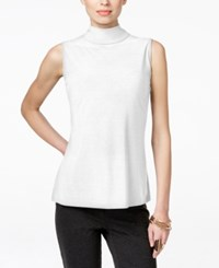 Inc International Concepts Sleeveless Mock Turtleneck Only At Macy's Bright White