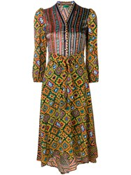 Duro Olowu Contrasting Panel Dress Yellow And Orange