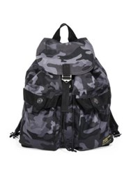 Polo Ralph Lauren Camo Print Military Backpack Black