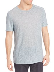 John Varvatos Linen Crewneck Tee Pale Aqua Antique