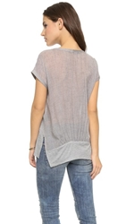 Tibi Gauzy Tee Heather Grey