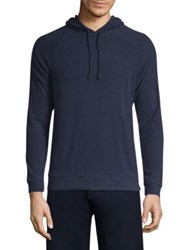 Onia Aaron Solid French Terry Hoodie Deep Navy