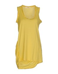Jucca Topwear T Shirts Women Yellow