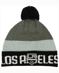Reebok Los Angeles Kings Pom Knit Hat Black Lightgrey Gray