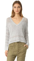 Feel The Piece Mulholland Sweater Grey White
