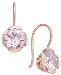 Thomas Sabo Pink Crystal Drop Earrings In 18K Rose Gold Plated Sterling Silver