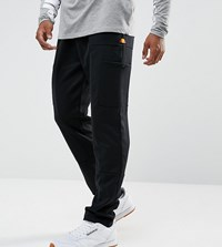 Ellesse Poly Drop Crotch Joggers With Cargo Pockets In Black Black