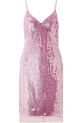 Markus Lupfer Marlane Sequined Tulle Dress Pastel Pink
