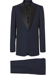 Burberry Classic Fit Wool Silk Tuxedo Blue