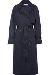 The Row Kereem Cotton Blend Trench Coat Navy