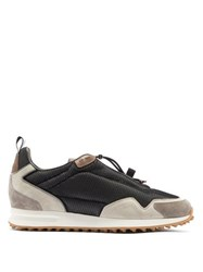 Dunhill Radial Runner Suede And Mesh Trainers Grey
