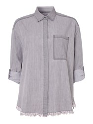 Label Lab Madsen Denim Twill Shirt Grey