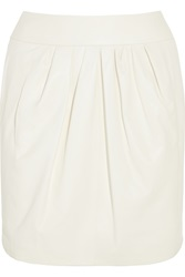 Nina Ricci Leather Mini Skirt White