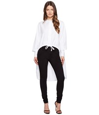 Sportmax Ricetta Runway High Low Button Up Top White Women's Coat