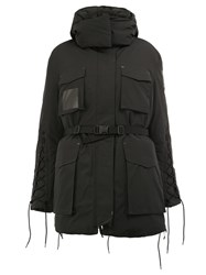 Yang Li Oversized Hooded Puffer Jacket Black