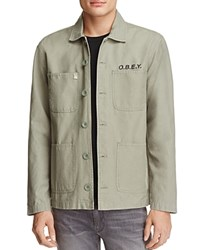 Obey Lookout Rose Print Utility Jacket 100 Bloomingdale's Exclusive Light Army