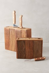Anthropologie Bamboo Knife Block Neutral