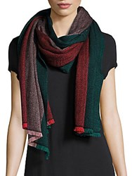 Bajra Colorblock Wool Scarf Green Red
