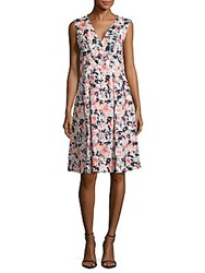 Lafayette 148 New York Junette Linen Floral Printed Dress Nectarina