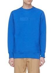 Know Wave 'Tbt' Logo Embroidered Sweatshirt Blue