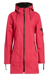 Ilse Jacobsen Rain 7 Hooded Water Resistant Coat Warm Pink