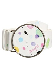 Desigual Chapon Splatter Belt Blanco White