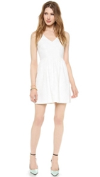 4.Collective Sleeveless V Neck Dress White
